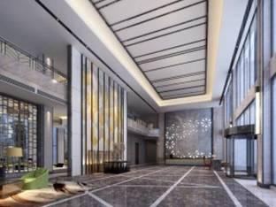 现代酒店前台大堂大厅3D模型