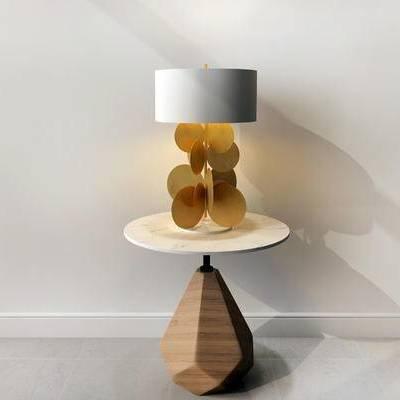 摆件组合, 台灯, 边几, 现代