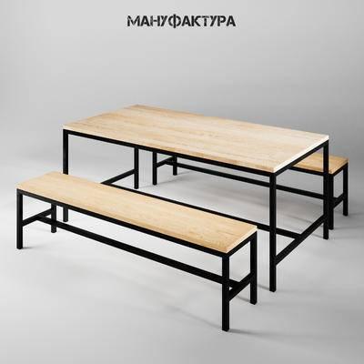 餐桌椅, 工业风