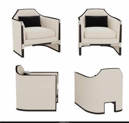 现代沙发椅, 沙发椅, 单椅