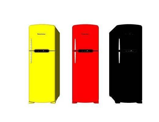 现代, 冰箱, 装饰, 摆件