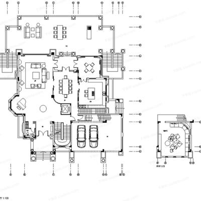 CAD, 施工图, 家装, 别墅, 平面图, 立面图, 梁志天, 下得乐3888套模型合辑