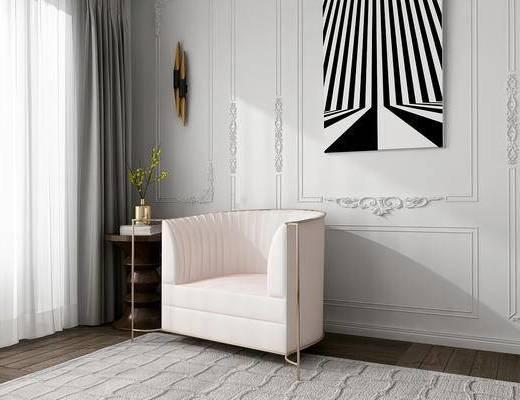 美国KOKET, 后现代, 单人沙发, 沙发
