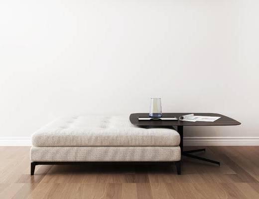 摆件组合, 沙发凳, 边几, 现代