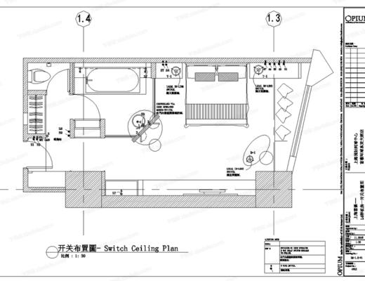 CAD, 施工图, 工装, 酒店, 客房, 平面图, 立面图
