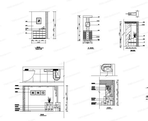 CAD, 立面, 柜子, 鞋柜