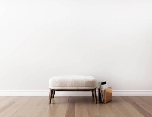 摆件组合, 沙发凳, 书籍, 现代