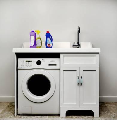 洗衣机, 洗手台, 现代
