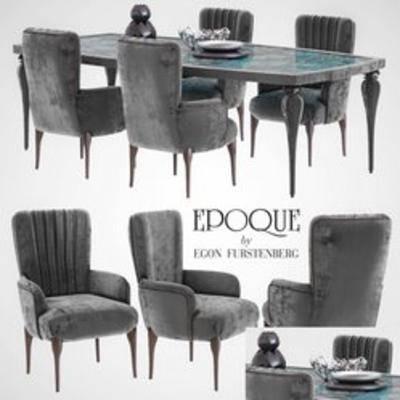 意大利餐桌椅, 餐桌椅组合, 餐桌椅