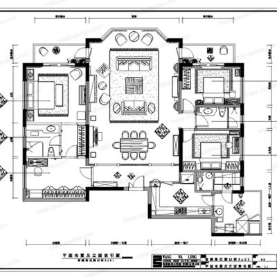CAD, 施工图, 家装, 室内, 平面, 立面
