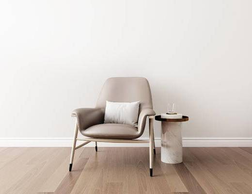 桌椅组合, 圆几, 单椅, 椅子, 现代