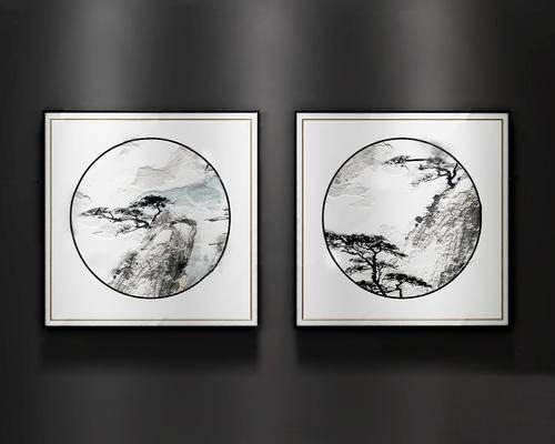 新中式, 挂画, 风景画