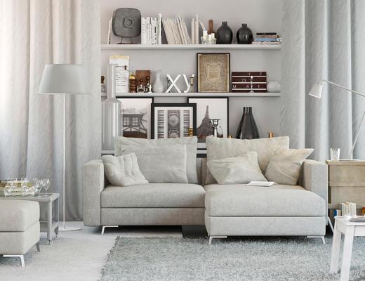 沙发组合, 沙发茶几组合, 北欧沙发, 多人沙发, 沙发