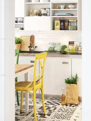 北欧简约, 厨房, 桌椅组合, 餐具, 食物, 下得乐3888套模型合辑