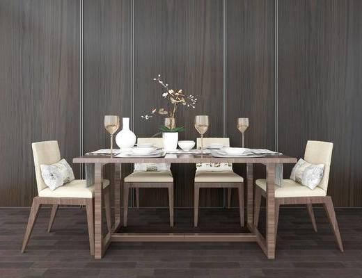 桌椅组合, 桌子, 椅子, 中式