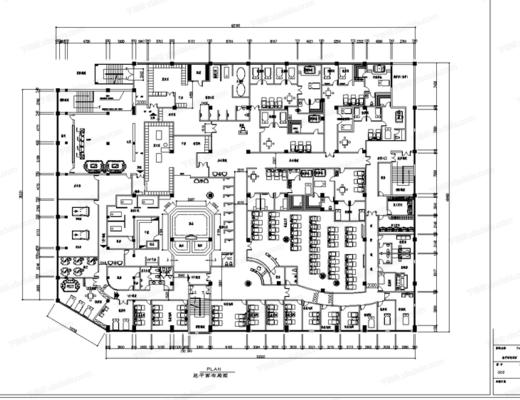 CAD, 施工图, 工装, 洗浴城, 平面图, 立面图, 水电图