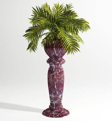 花瓶花卉, 美式