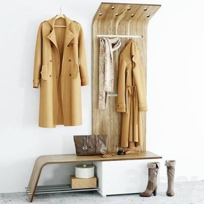 衣服, 衣架, 北欧, 玄关柜, 鞋子