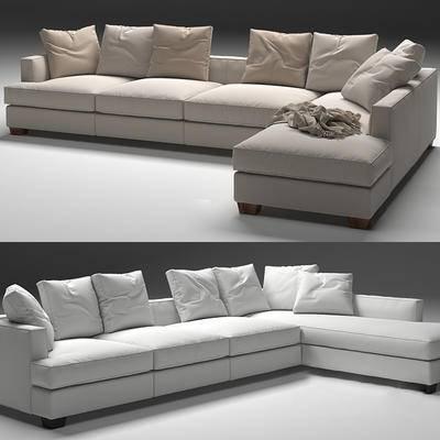 多人沙发, 现代, 沙发, 靠枕