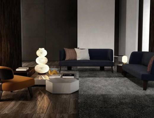 现代简约, 沙发茶几组合, 装饰灯, 意大利MINOTTI