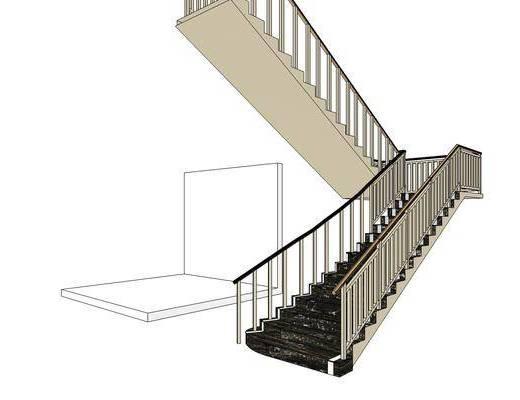 楼梯, 现代, 室内, 装饰