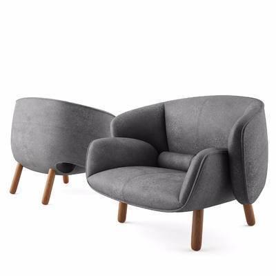 现代, 沙发, 简约, 北欧, 单人沙发