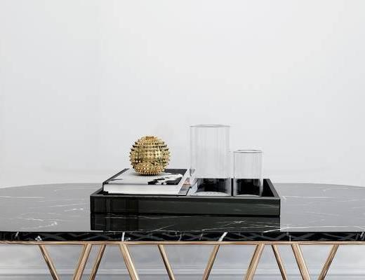 摆件组合, 桌子, 现代