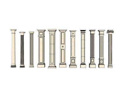 柱子, 简欧, 罗马柱, 装饰