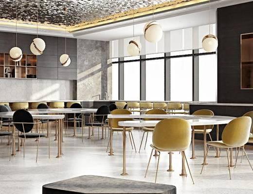 餐廳, 桌椅組合, 吊燈, 餐桌