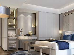 现代酒店客房房间3D模型