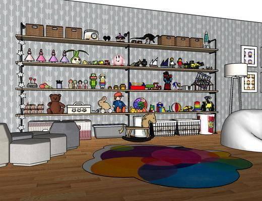 现代儿童房, 儿童房, 摆件组合