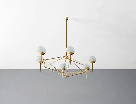 现代, 金属, 吊灯
