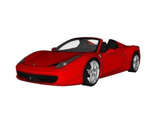 现代, 红色, 汽车, 装饰