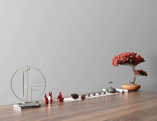 现代盆栽茶具组合, 现代茶具组合, 茶具组合