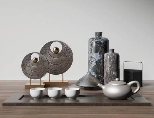 中式茶具组合, 茶具摆件组合, 茶具组合