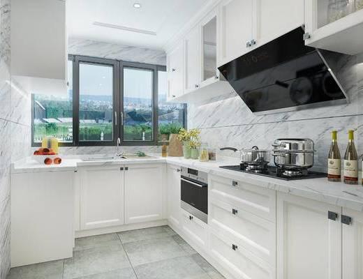 现代厨房, 厨房, 橱柜
