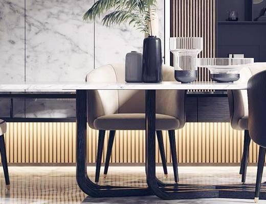现代餐桌, 餐桌组合, 餐桌椅