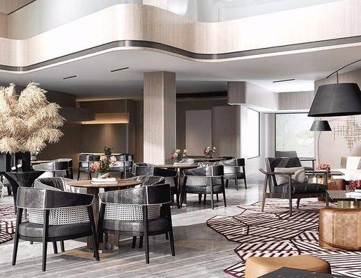現代酒店, 酒店休息區, 休息區, 洽談會客, 現代休息區