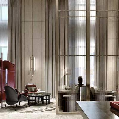 后现代酒店, 酒店休息区, 洽谈会客, 休息区