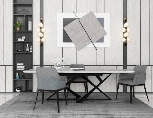 现代餐桌椅, 桌椅组合, 餐桌椅
