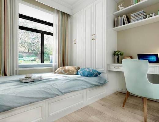 现代榻榻米, 榻榻米, 卧室, 儿童房, 现代卧室