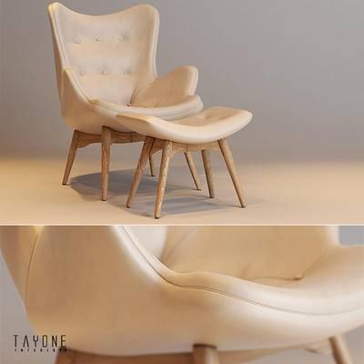 单椅, 休闲单椅, 现代单椅