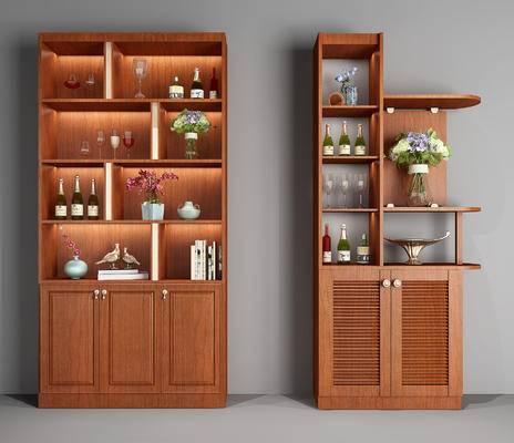 酒柜, 柜, 装饰柜, 红酒, 陈设品, 摆件