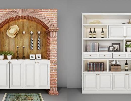 酒柜, 装饰柜, 置物柜, 柜, 美式, 现代