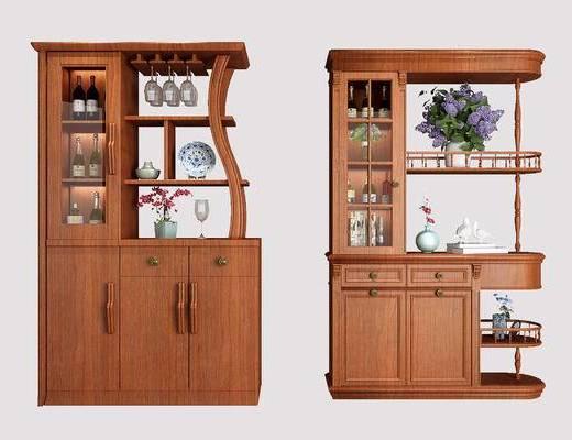 酒柜, 装饰柜, 陈设品, 摆件, 花瓶