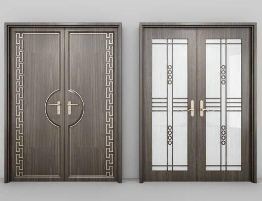 门, 中式门, 中式, 门构件, 构件, 新中式