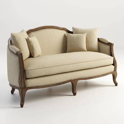 美式沙发, 双人沙发, 沙发