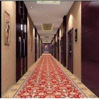 中式, 过道, 挂画, 地毯