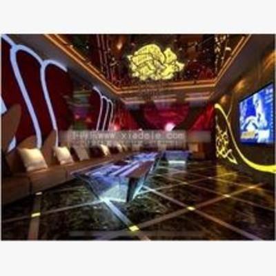 后现代, 吊灯, 沙发, 桌几, 墙饰