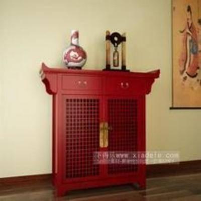 木质柜子, 中式柜子, 柜子, 鞋柜, 中式鞋柜